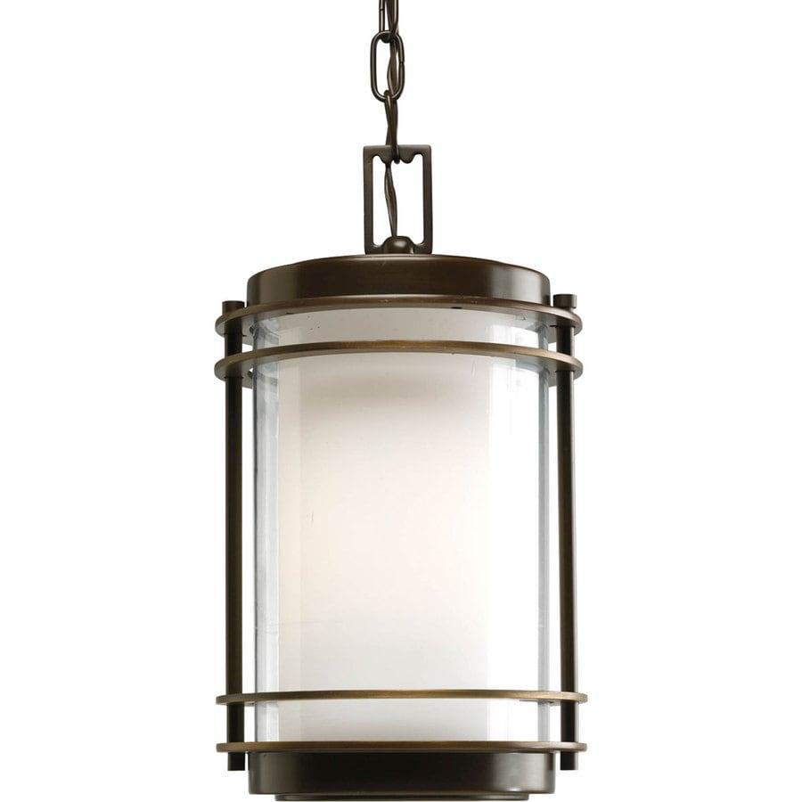 Progress Lighting Penfield 14.25-in Oil-Rubbed Bronze Outdoor Pendant Light