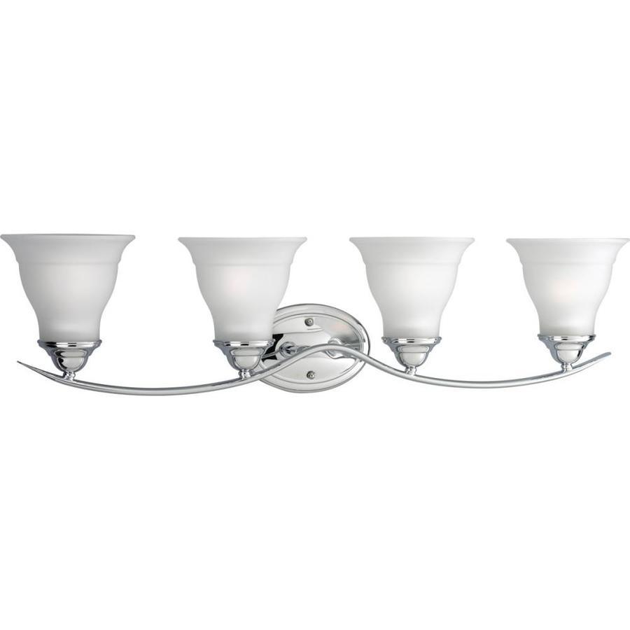 Progress Lighting Trinity 4-Light Chrome Bell Vanity Light