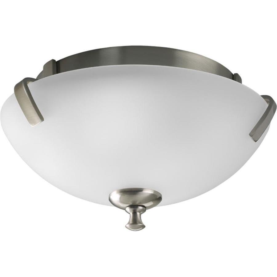Progress Lighting Wisten 14-in W Brushed Nickel Ceiling Flush Mount Light