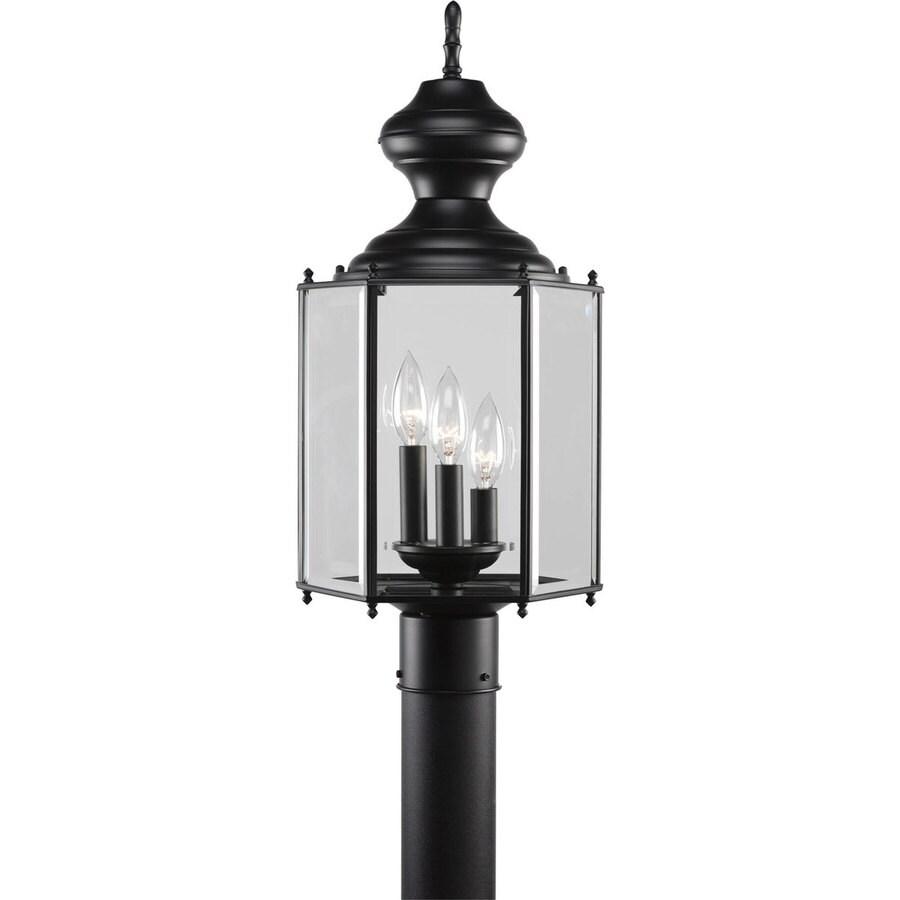 Progress Lighting 21.25-in H Black Post Light