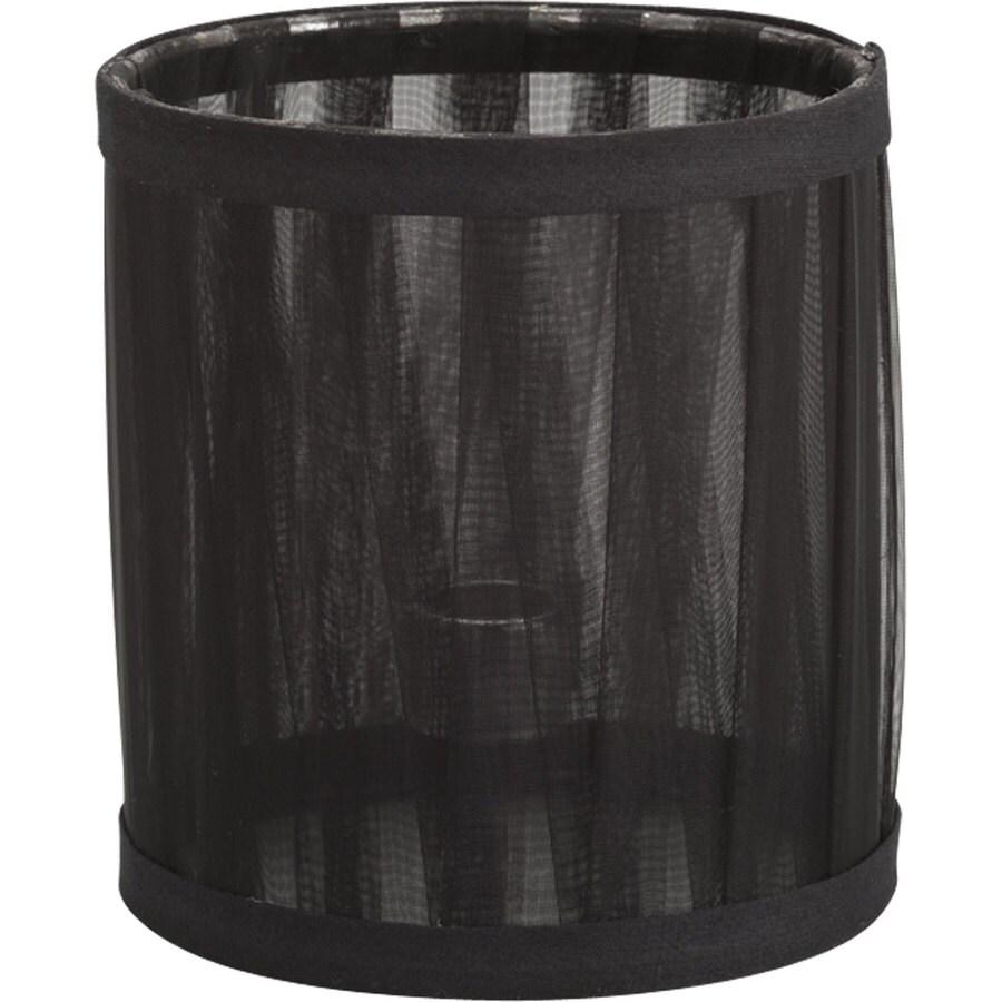 Progress Lighting 5-in x 4.5-in Black Chiffon Chandelier Lamp Shade