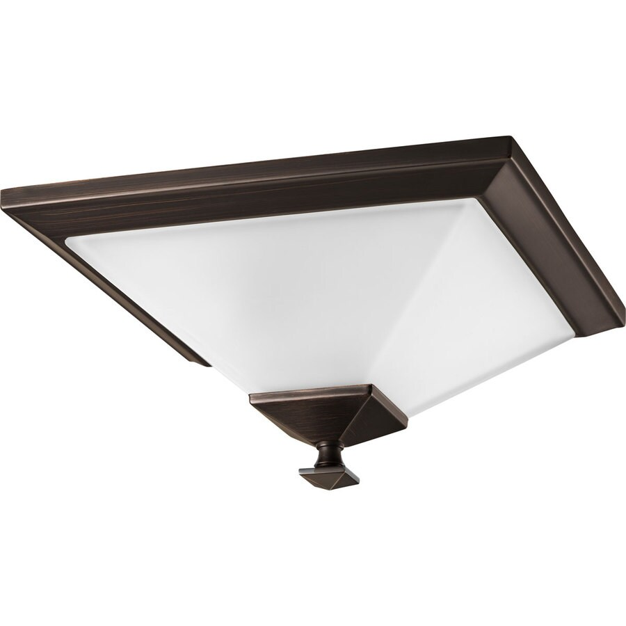 Progress Lighting North Park 12.5-in W Venetian Bronze Ceiling Flush Mount Light