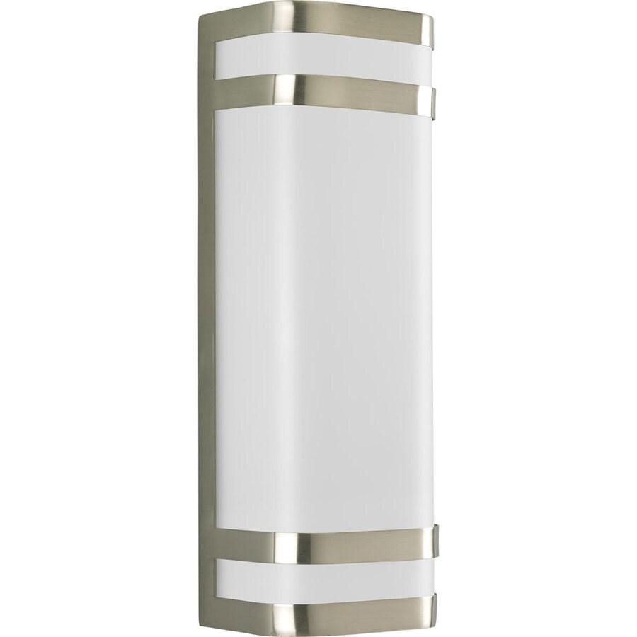 Progress Lighting Valera 16.12-in H Brushed Nickel Outdoor Wall Light