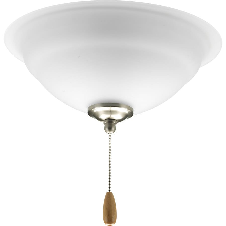 Progress Lighting Torino 3-Light Brushed Nickel Incandescent Ceiling Fan Light Kit with Etched Glass