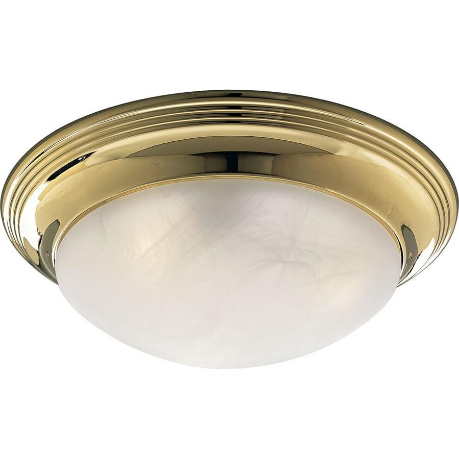 Progress Lighting Melon 16.75-in W Polished Brass Ceiling Flush Mount Light
