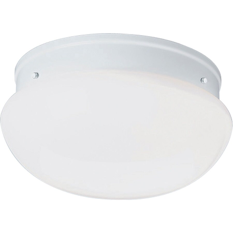 Progress Lighting Fitter 11.75-in W White Ceiling Flush Mount Light