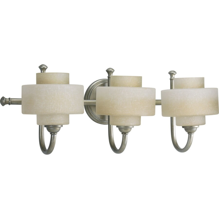 Progress Lighting Ashbury 3-Light Silver Ridge Drum Vanity Light