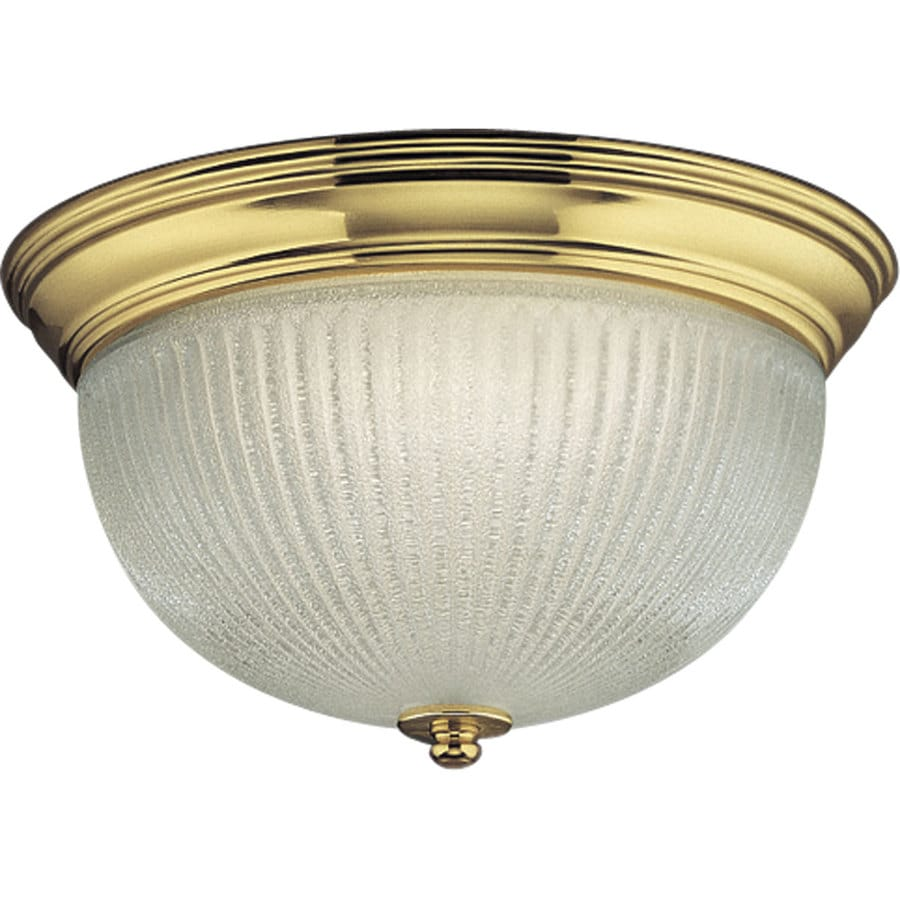 Progress Lighting Melon 12.75-in W Polished Brass Ceiling Flush Mount Light