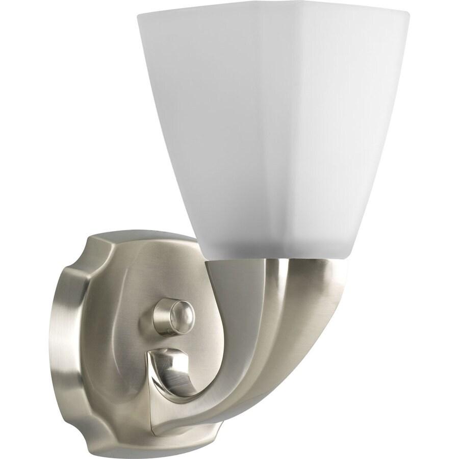 Progress Lighting Addison 1-Light Brushed Nickel Square Vanity Light