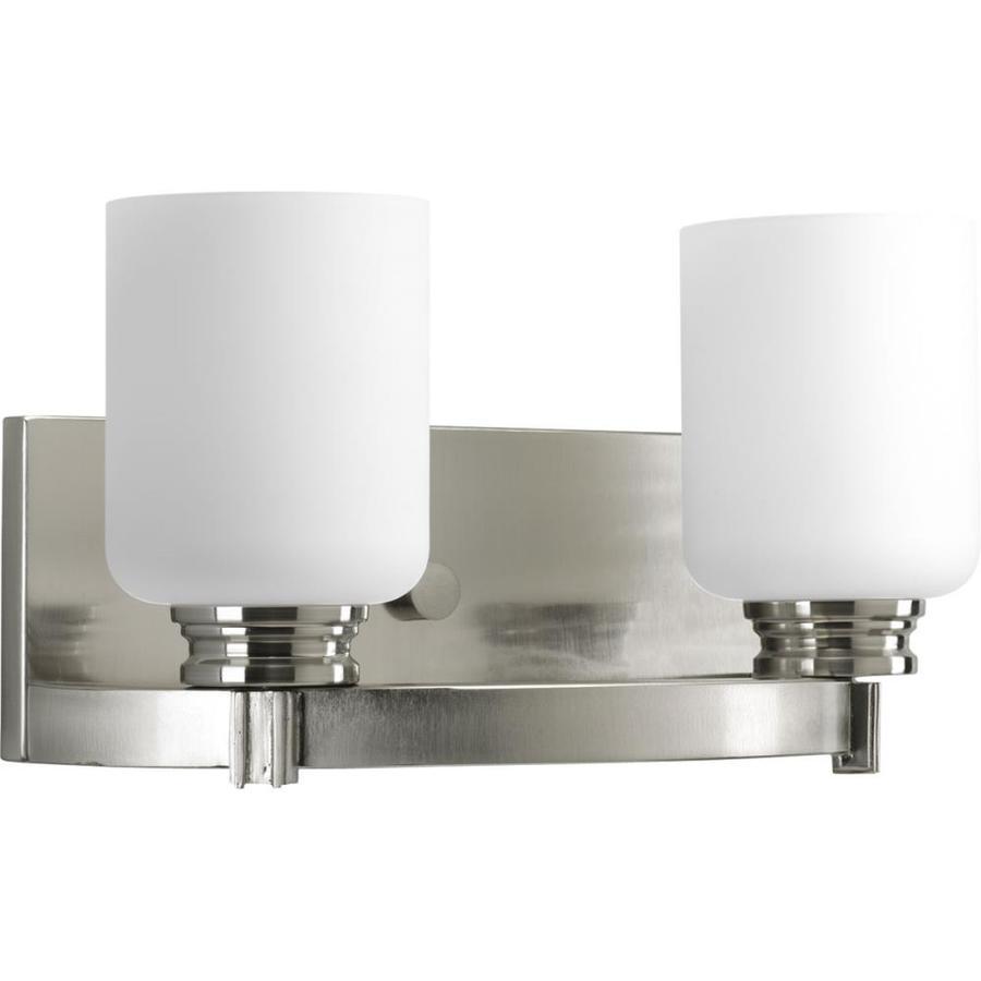 Progress Lighting Orbitz 2-Light Brushed Nickel Cylinder Vanity Light