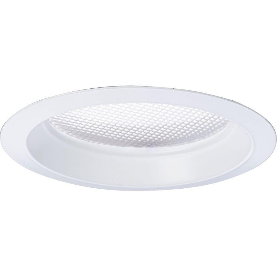 Recessed Lighting Glass Trim : Progress lighting white flat glass recessed light