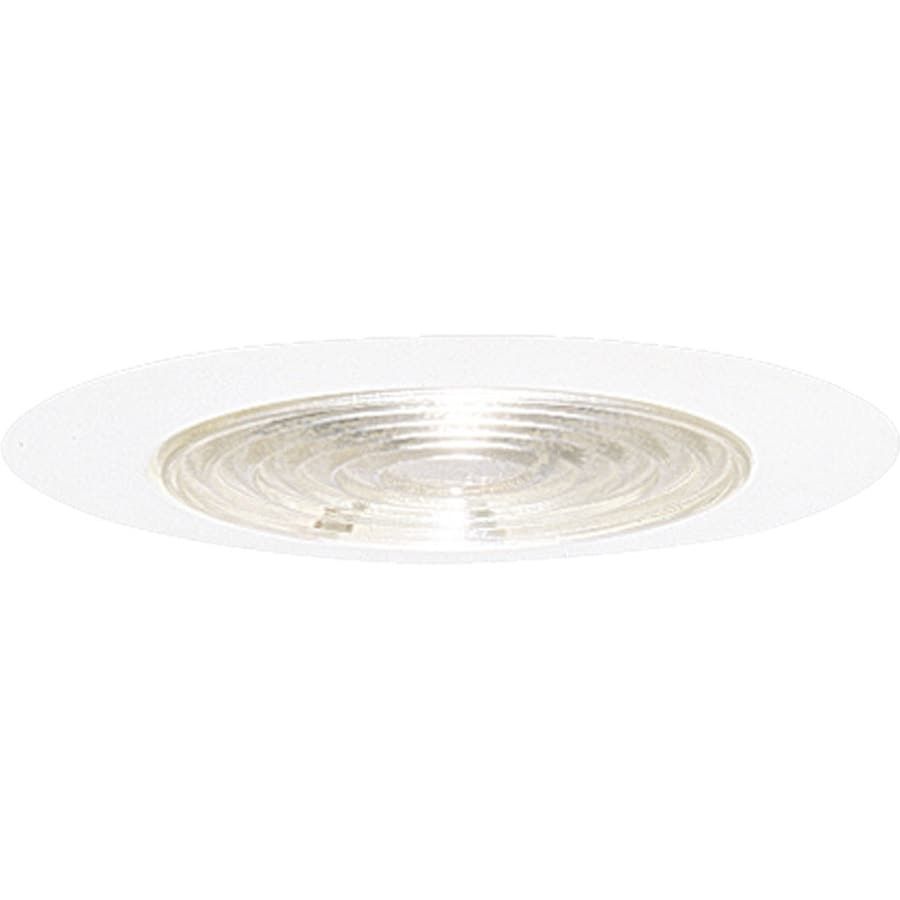 Progress Lighting White Flat Glass Recessed Light Trim (Fits Housing Diameter: 6-in)