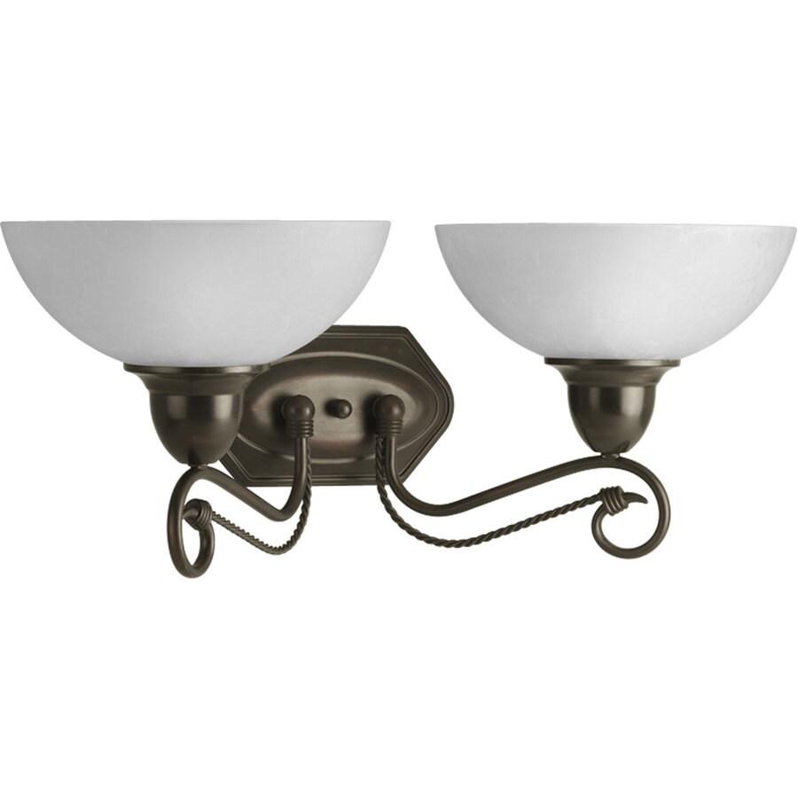 Progress Lighting Pavilion 2-Light Antique Bronze Bowl Vanity Light