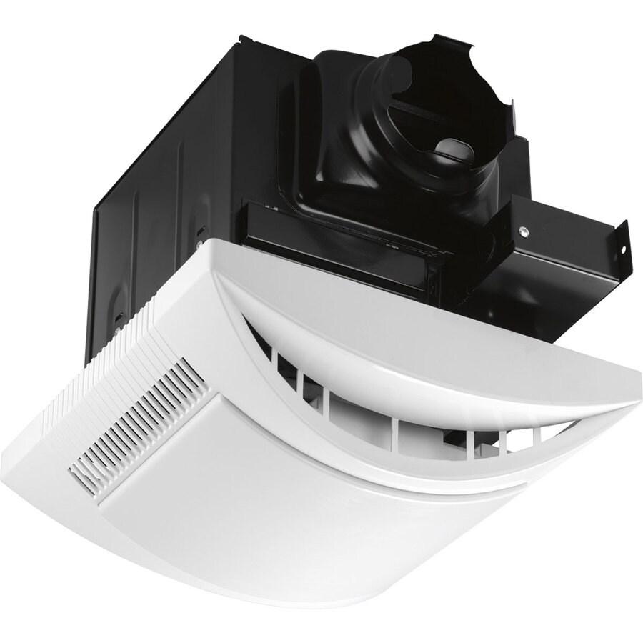 Progress Lighting 1-Sone 80-CFM White Bathroom Fan with Light ENERGY STAR