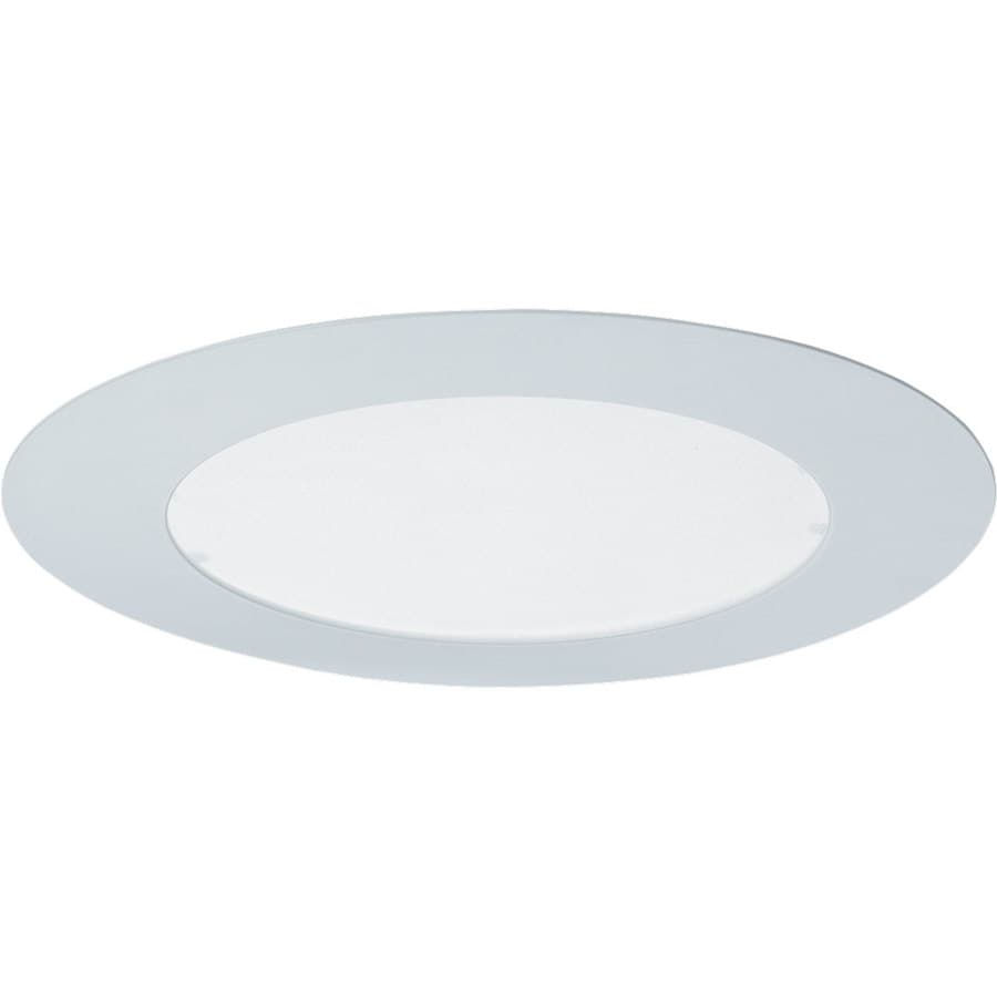 Progress Lighting White Flat Glass Recessed Light Trim (Fits Housing Diameter: 6-in)