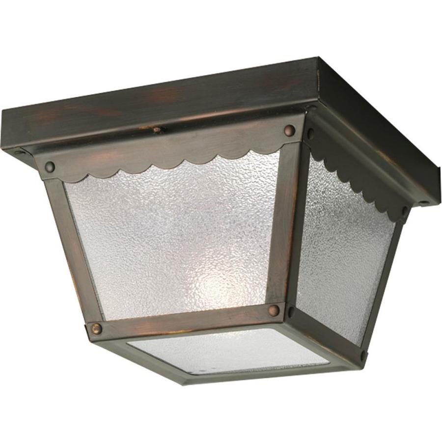 Progress Lighting 7.5-in W Antique Bronze Outdoor Flush-Mount Light