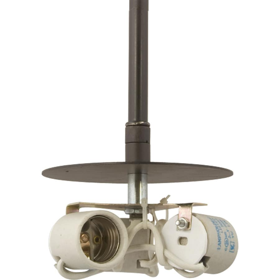 Progress Lighting Markor 4.75-in Antique Bronze Mini Bell Pendant