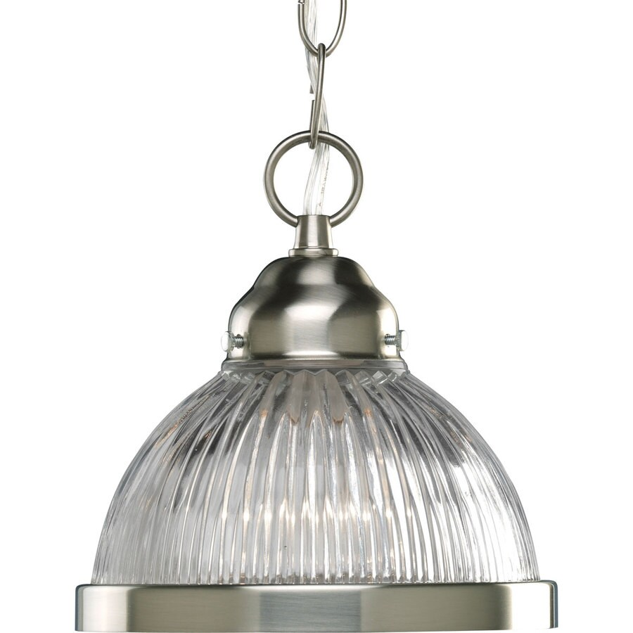 shop progress lighting 6 75 in brushed nickel mini clear