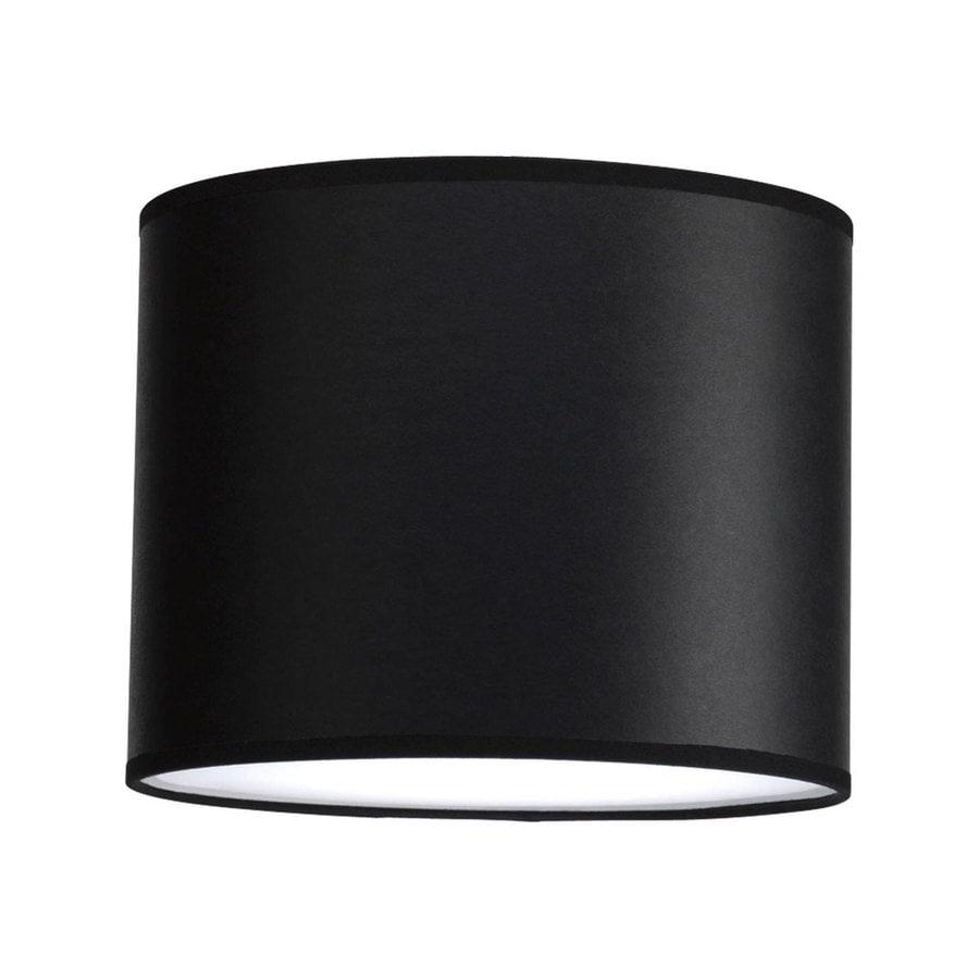 Progress Lighting Markor 8-in H 10-in W Black Parchment Cylinder Pendant Light Shade