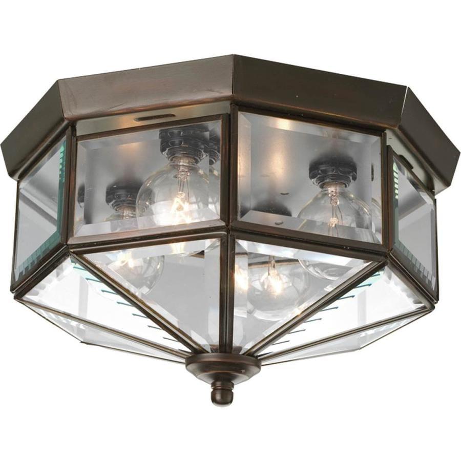 Shop Progress Lighting Beveled Glass 11 125 In W Antique