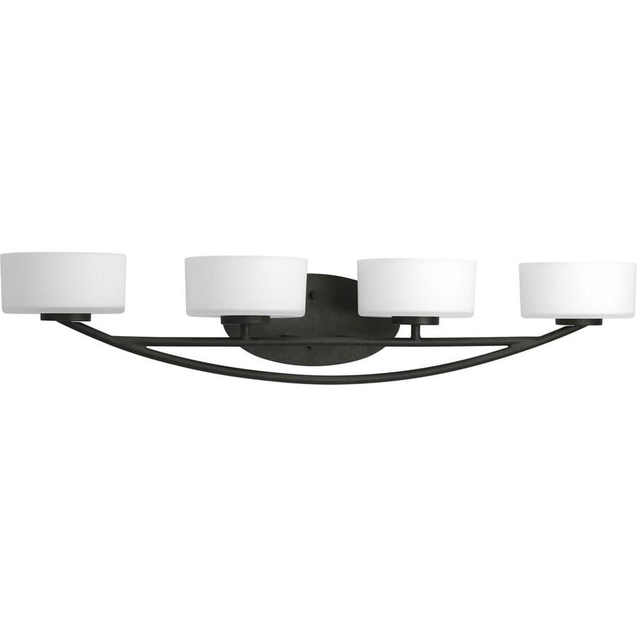Progress Lighting Calven 4-Light Forged Black Drum Vanity Light