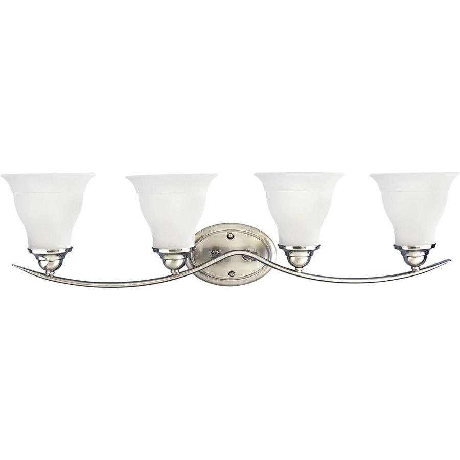 Progress Lighting Trinity 4-Light Brushed Nickel Bell Vanity Light