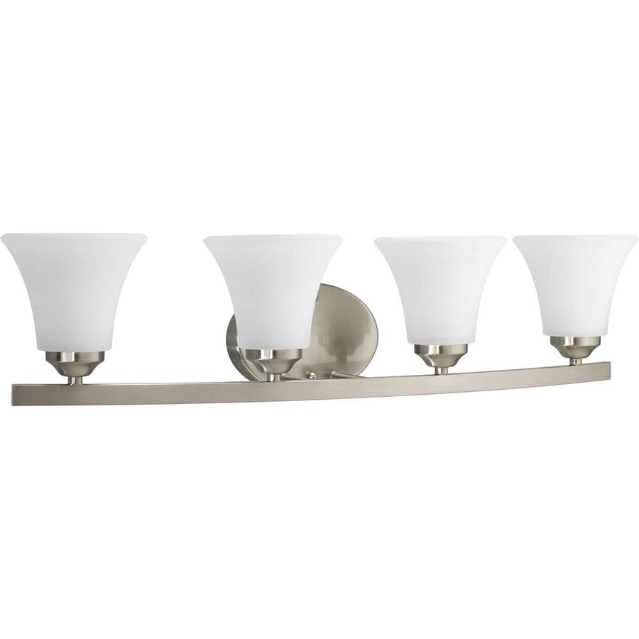 Progress Lighting Adorn 4-Light Brushed Nickel Bell Vanity Light