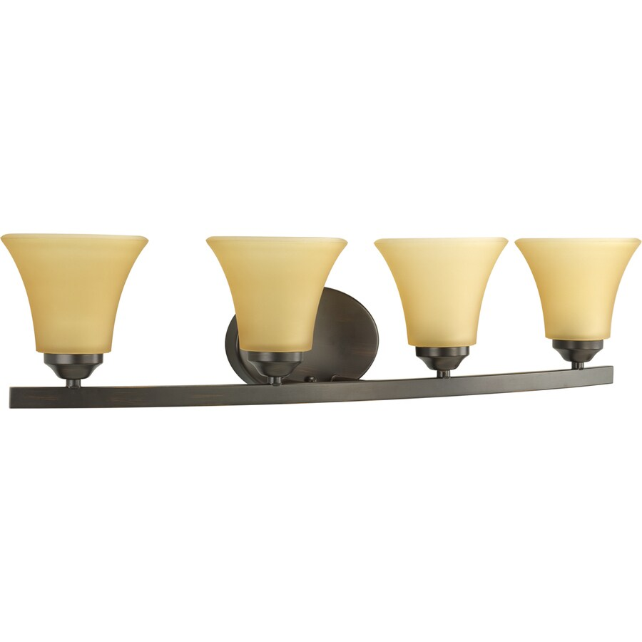 Progress Lighting Adorn 4-Light Antique Bronze Bell Vanity Light