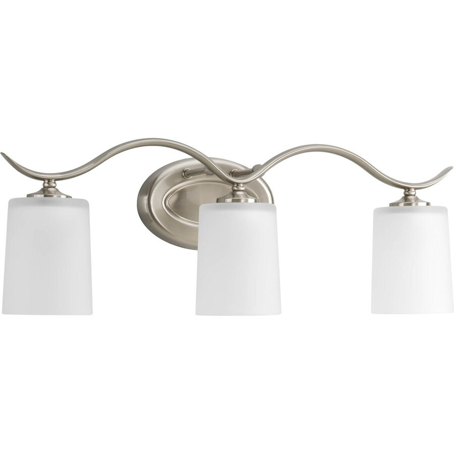 Progress Lighting Inspire 3-Light Brushed Nickel Drum Vanity Light