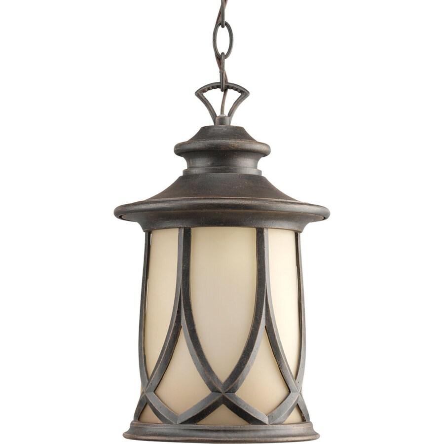 Progress Lighting Resort 14.12-in Aged Copper Outdoor Pendant Light
