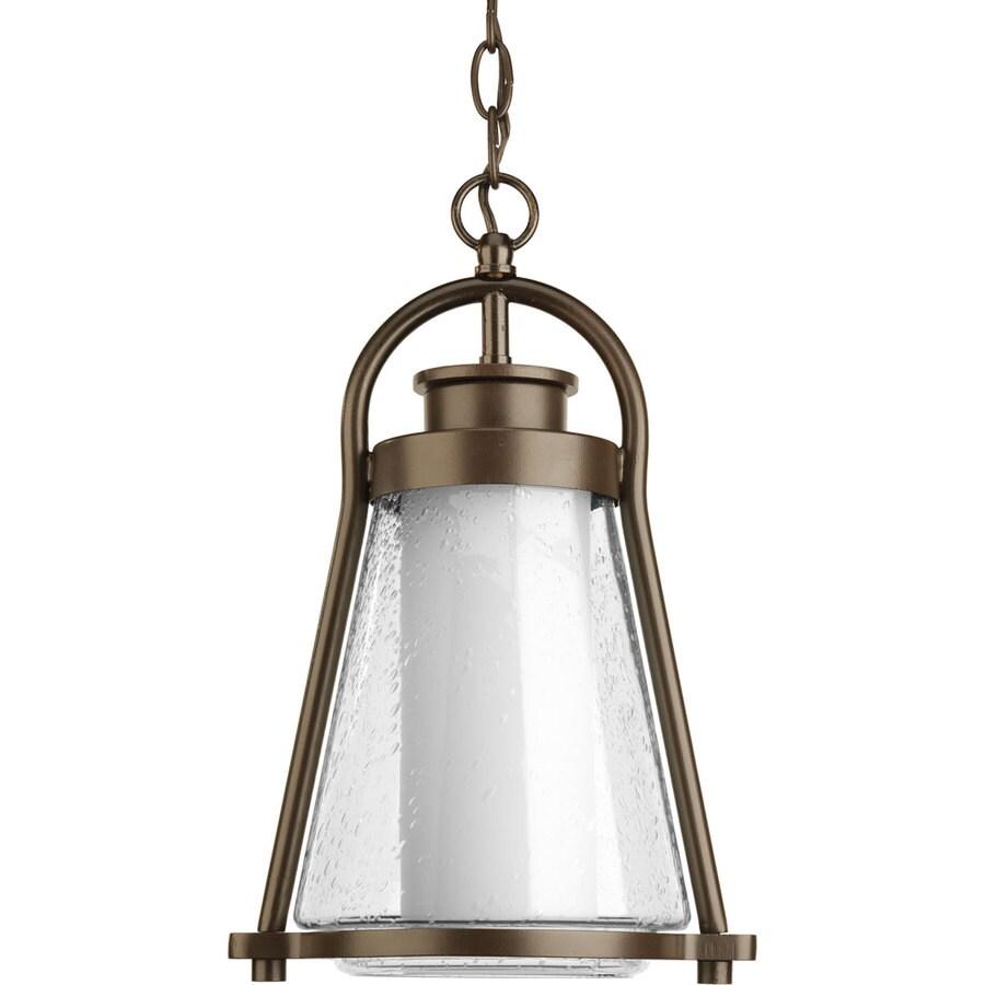 Progress Lighting Regatta 15.5-in Antique Bronze Outdoor Pendant Light