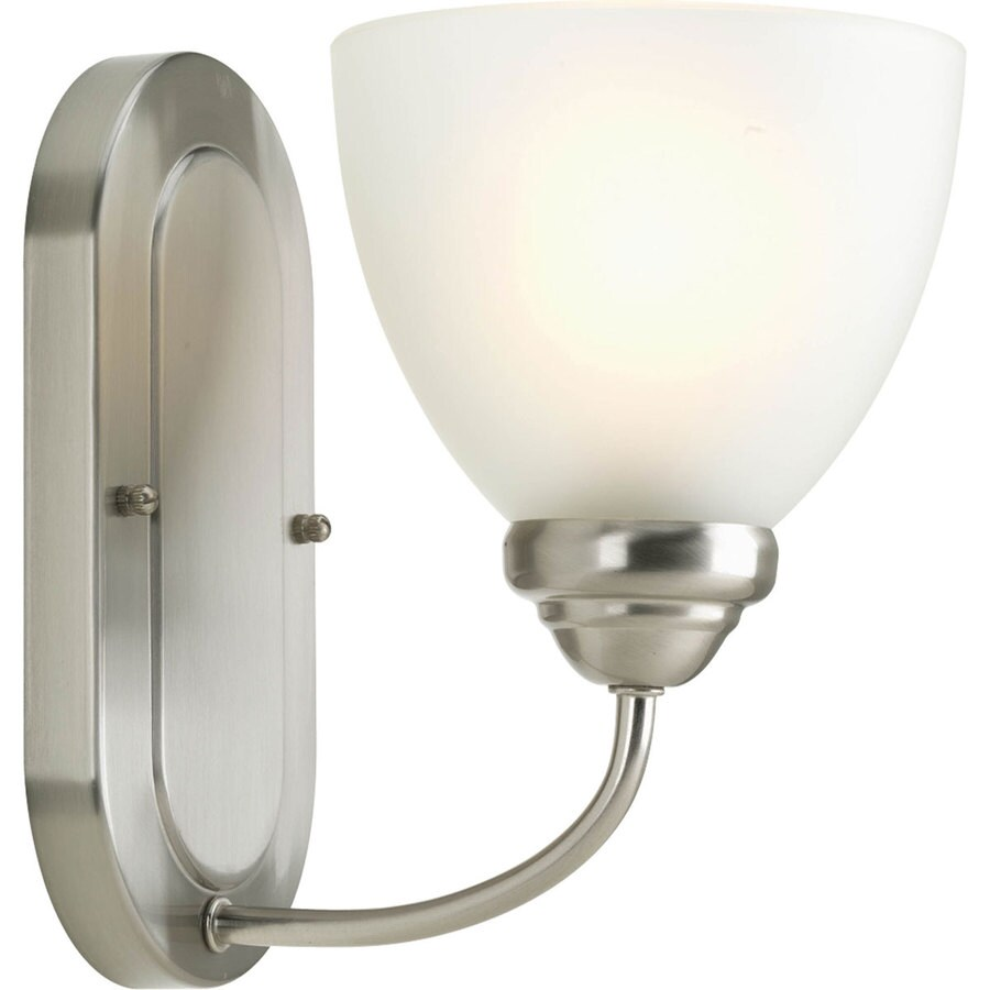 Progress Lighting Heart 1-Light Brushed Nickel Bell Vanity Light