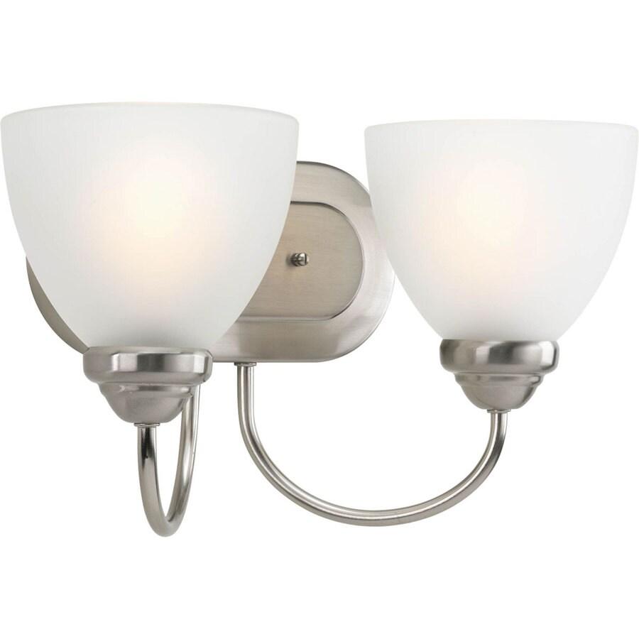 Progress Lighting Heart 2-Light Brushed Nickel Bell Vanity Light