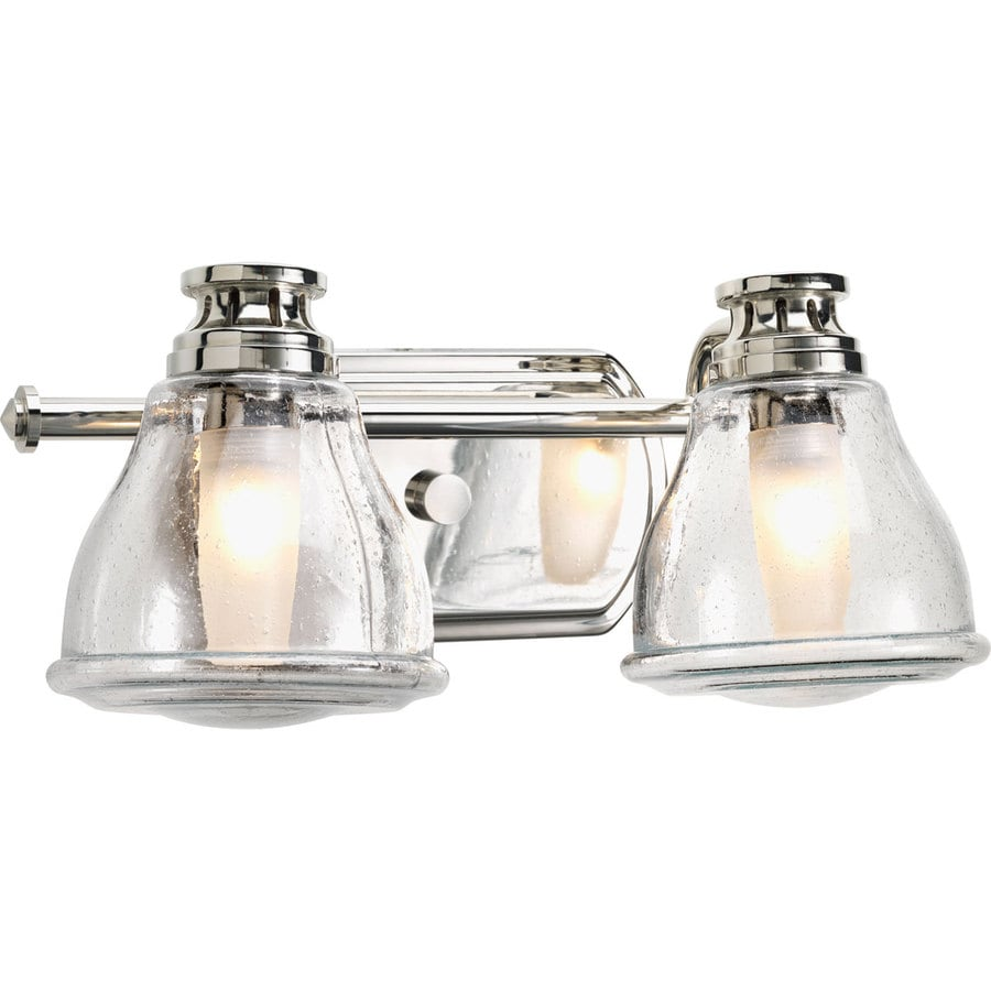 Vanity Lights In Chrome : Shop Progress Lighting Academy 2-Light Polished Chrome Schoolhouse Vanity Light at Lowes.com