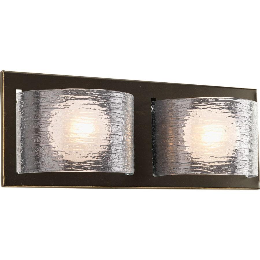 Progress Lighting Reign 2-Light Antique Bronze Rectangle Vanity Light