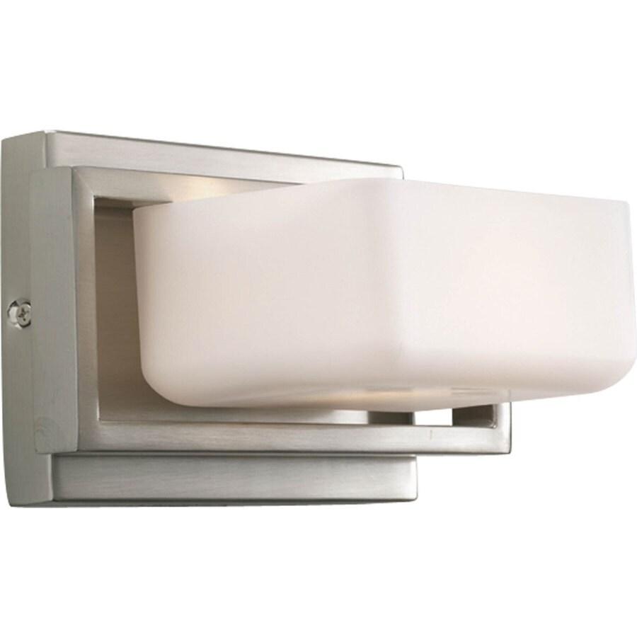 Progress Lighting Dibs 1-Light Brushed Nickel Square Vanity Light