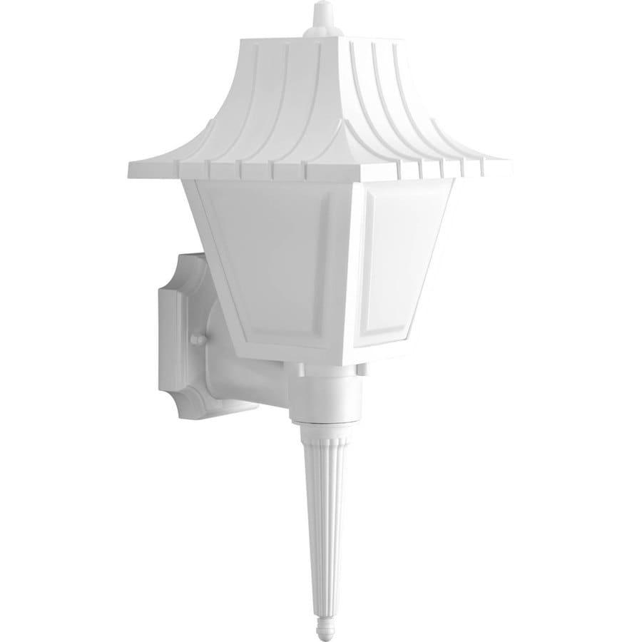 Progress Lighting Mansard 17.62-in H White Outdoor Wall Light ENERGY STAR