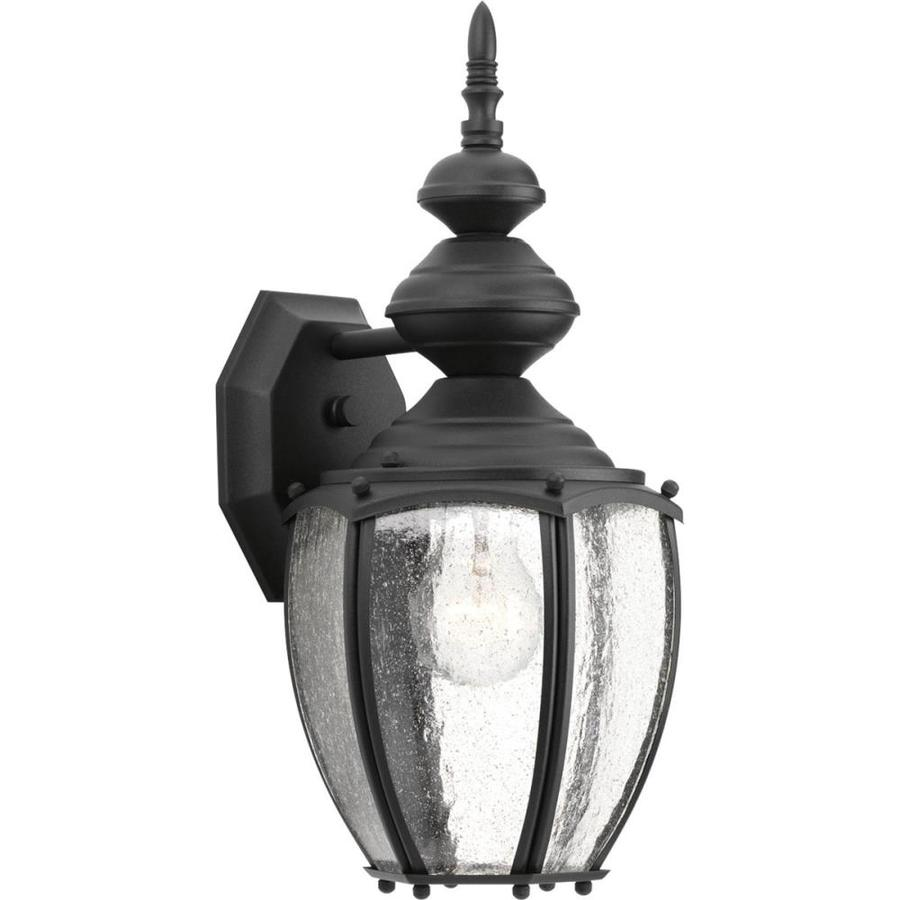 Progress Lighting Roman Coach 15.25-in H Black Outdoor Wall Light