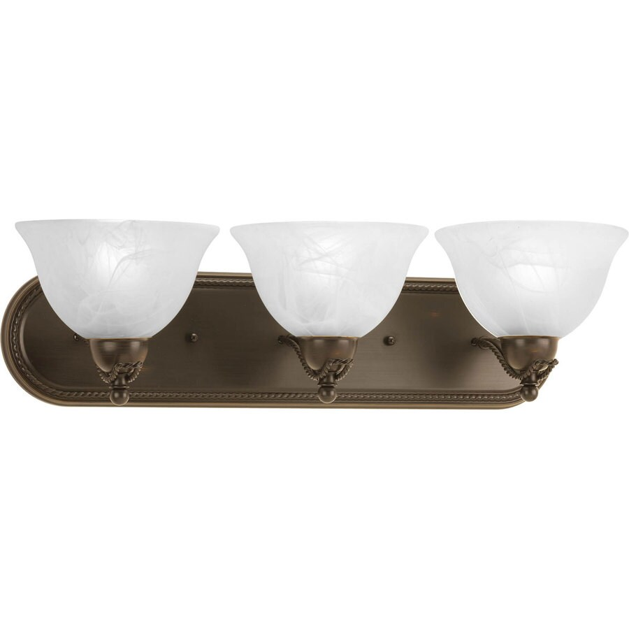 Antique Bronze Vanity Lights : Shop Progress Lighting 3-Light Avalon Antique Bronze Bathroom Vanity Light at Lowes.com