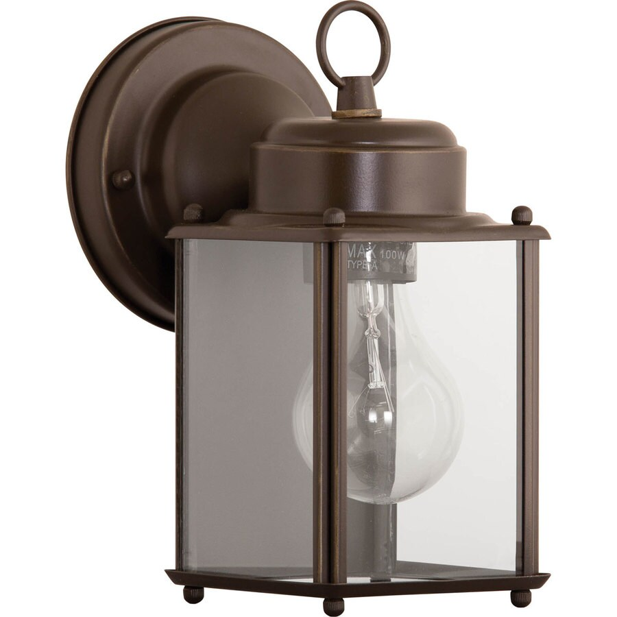 Shop Progress Lighting 8-in H Antique Bronze Outdoor Wall Light at Lowes.com