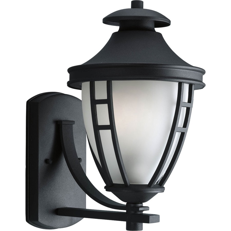 Progress Lighting Fairview 15.25-in H Black Outdoor Wall Light