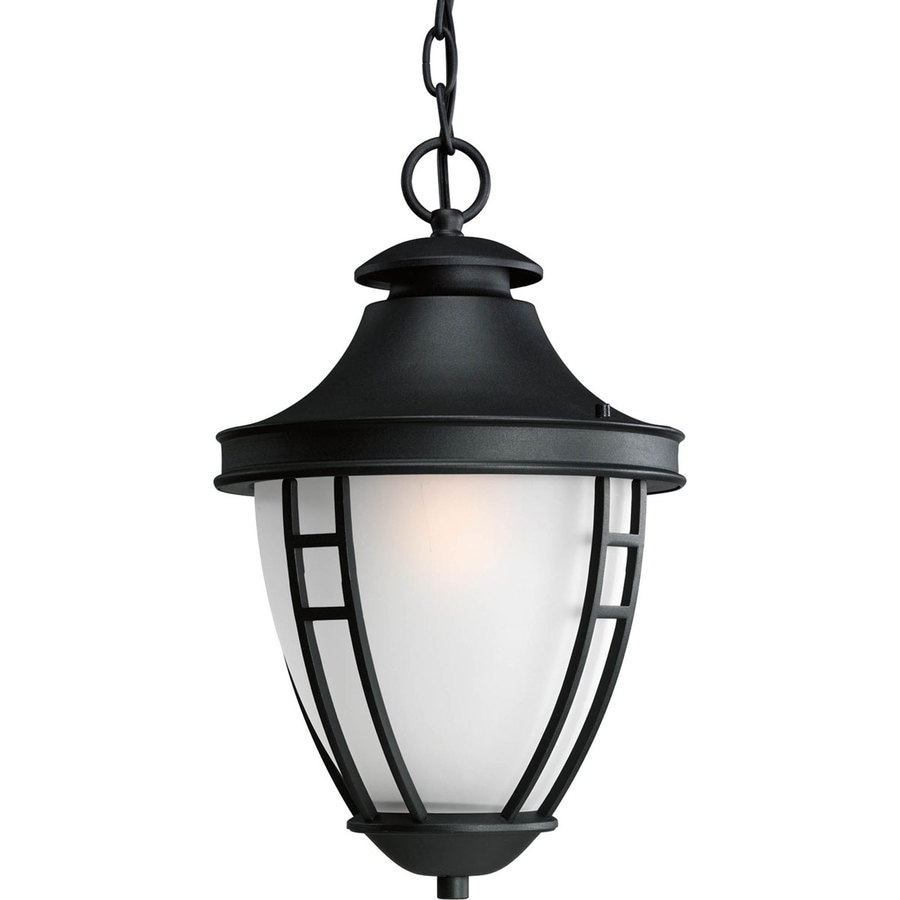 Progress Lighting Fairview 17.13-in Black Outdoor Pendant Light