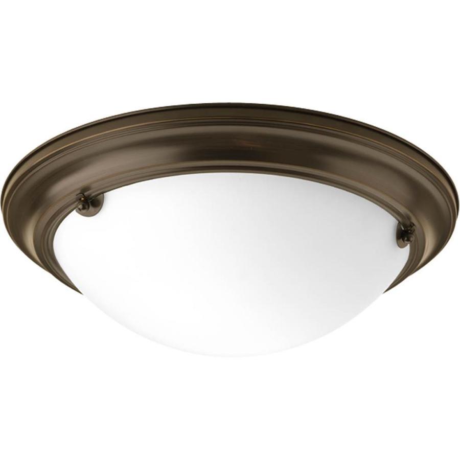 Progress Lighting Eclipse 15.25-in W Antique Bronze Ceiling Flush Mount Light