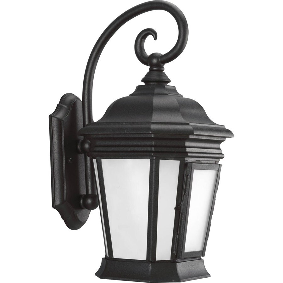 Progress Lighting Crawford 16.75-in H Black Outdoor Wall Light