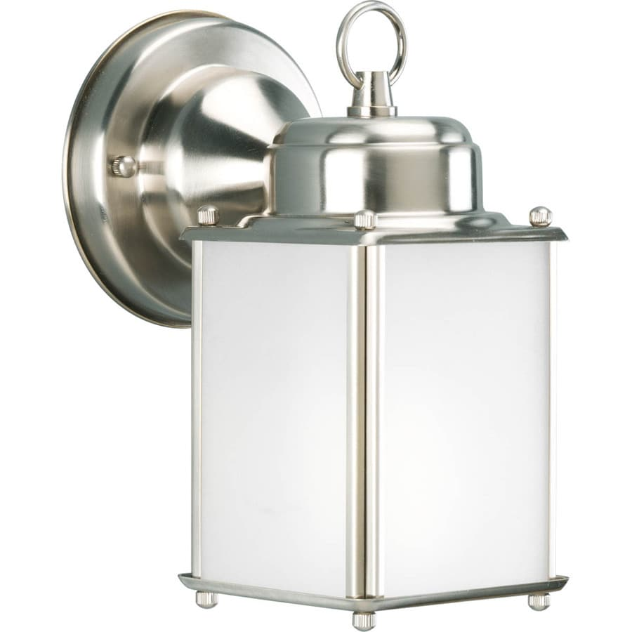 Progress Lighting Roman Coach 8.5-in H Brushed Nickel Outdoor Wall Light