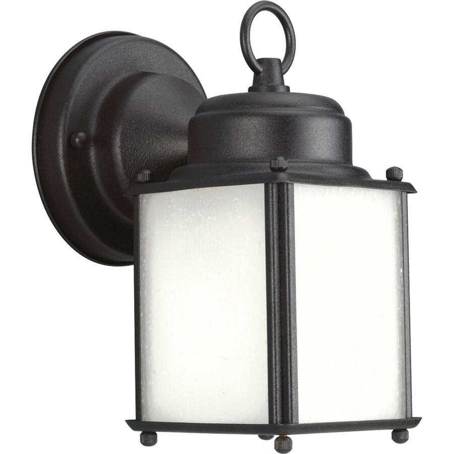 Progress Lighting Roman Coach 8.5-in H Black Outdoor Wall Light