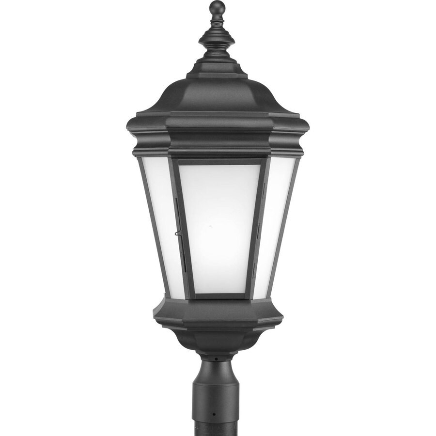 Progress Lighting Crawford 28.31-in H Black Post Light