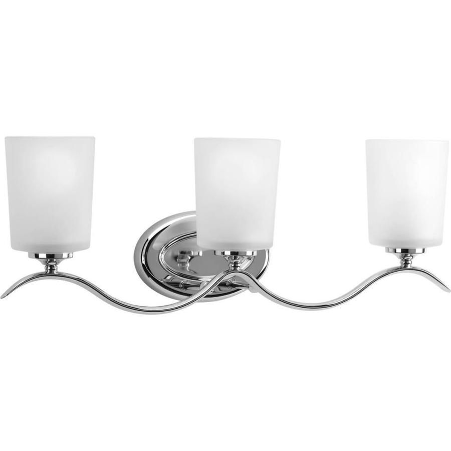 Progress Lighting Inspire 3-Light Polished Chrome Drum Vanity Light