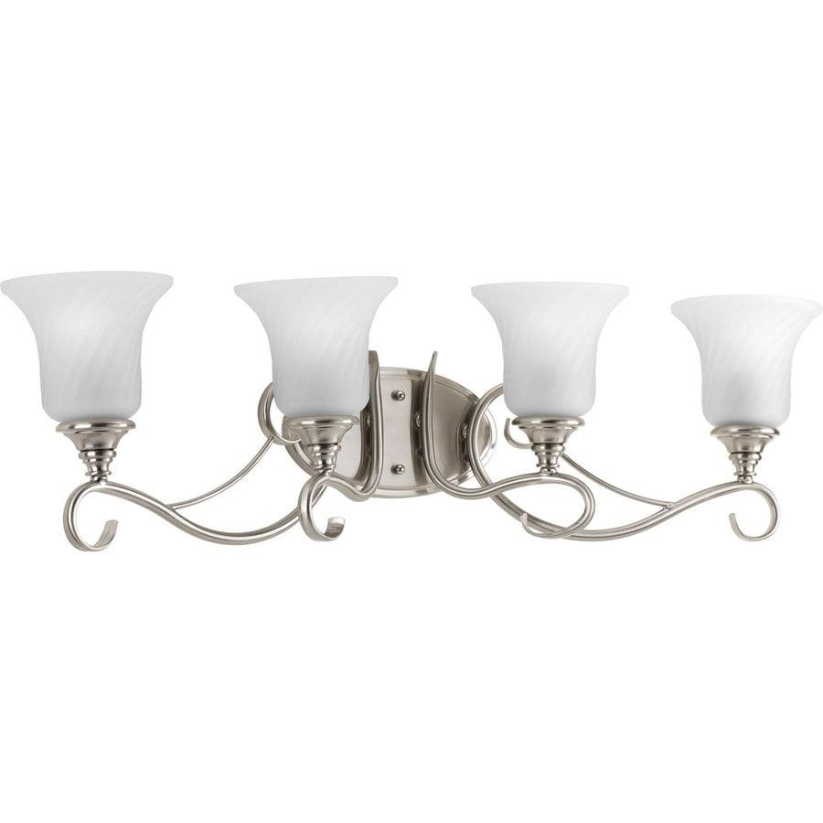 Progress Lighting Kensington 4-Light Brushed Nickel Bell Vanity Light