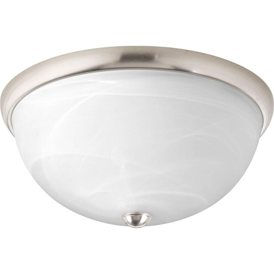 Progress Lighting Random 14-in W Brushed Nickel Ceiling Flush Mount Light
